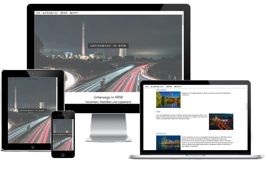 Responsives Webdesign 2.0 - Webseite von unterwegs-in-nrw.de
