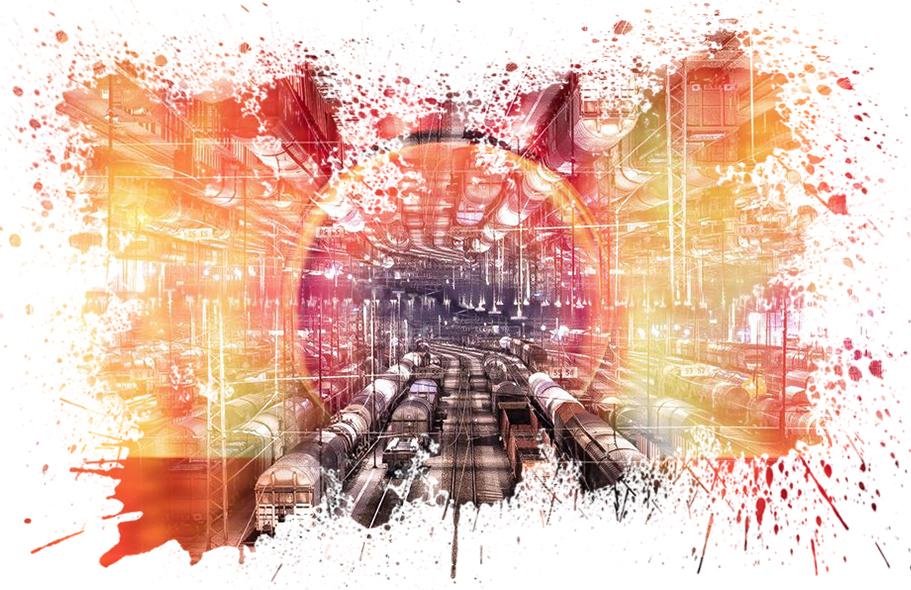 Güterbahnhof in Hagen-Vorhalle - Photoshop-Composing