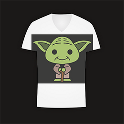 T-Shirt mit Yoda-Motiv