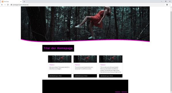 Teaserbild, Verlinkung zum Artikel: Fotografen-Homepage