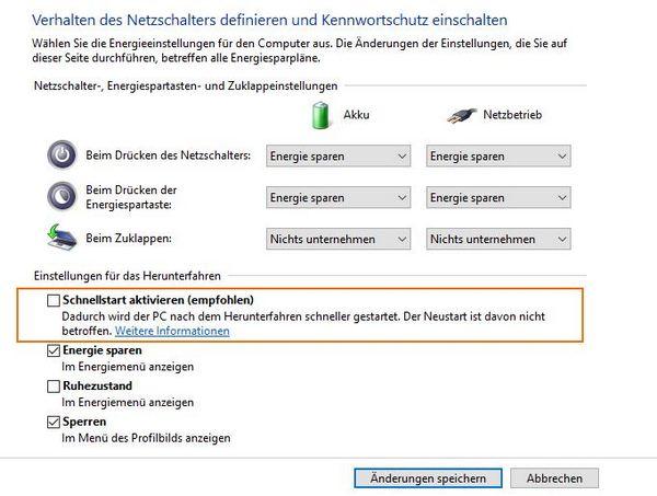Teaserbild, Verlinkung zum Artikel: Windows 10 – Herunterfahren nicht möglich