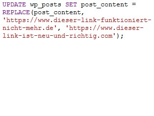 Teaserbild, Verlinkung zum Artikel: WordPress – Texte in der Datenbank schnell ersetzen