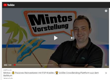 Titelbild zum Artikel Neues Video – Mintos | 💰 Passives Reinvestieren mit P2P-Kredite | 🏆 Größte Crowdlending-Plattform aus dem Baltikum