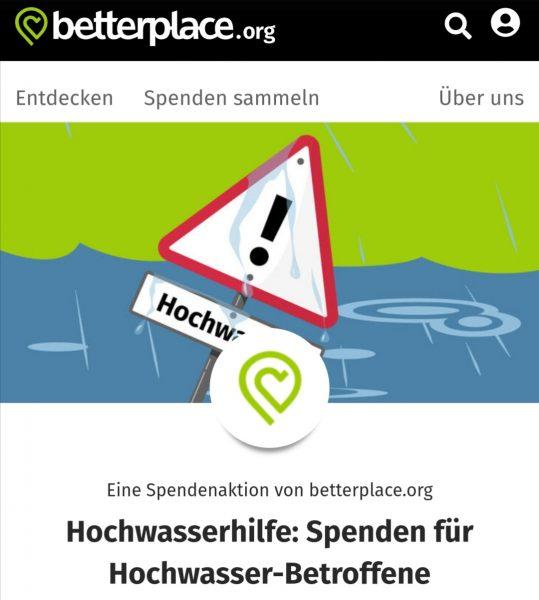 Titelbild zum Artikel Betterplace.org – Spende Hochwasserhilfe